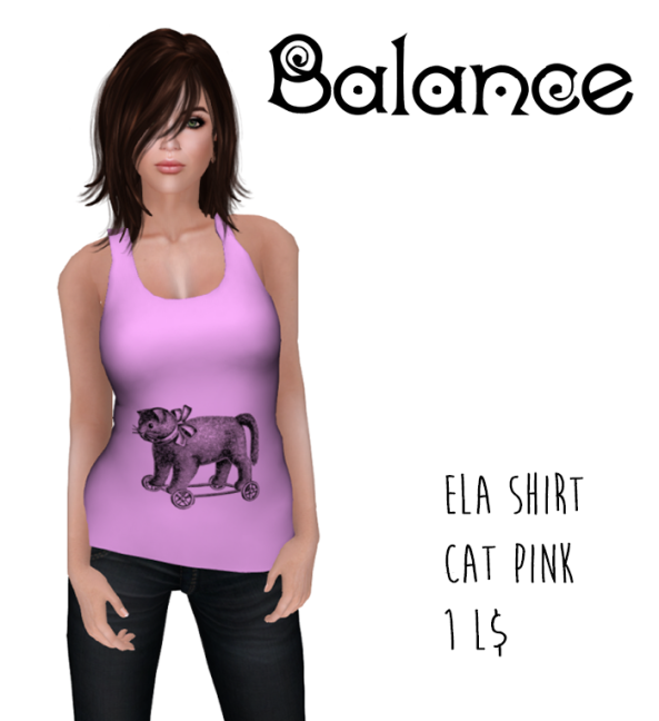 ela shirt cat pink